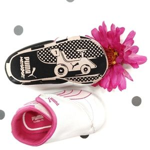 Puma Pink Velcro Baby Sneakers Shoes Size 3